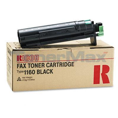 RICOH TYPE 1160 FAX TONER CARTRIDGE BLACK